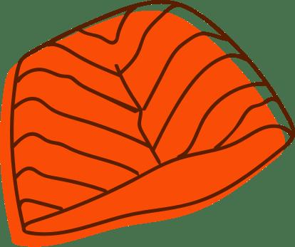 orange sea food